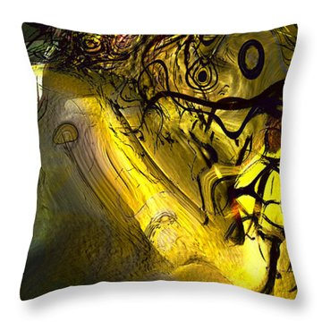 Throw Pillow featuring the digital art Elaboration Of Day Into Dream by Richard Thomas