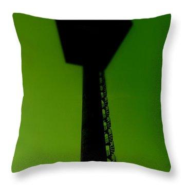 Throw Pillow featuring the photograph Elastic Concrete Part Four by Sir Josef - Social Critic - ART