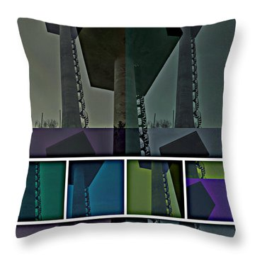 Throw Pillow featuring the photograph Elastic Concrete Part One by Sir Josef - Social Critic - ART