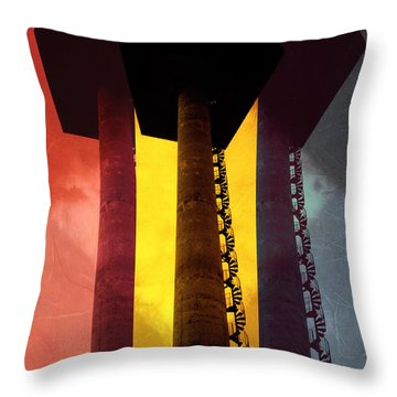 Throw Pillow featuring the photograph Elastic Concrete Part Three by Sir Josef - Social Critic - ART