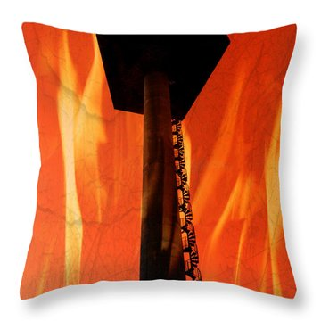 Throw Pillow featuring the photograph Elastic Concrete Part Two by Sir Josef - Social Critic - ART
