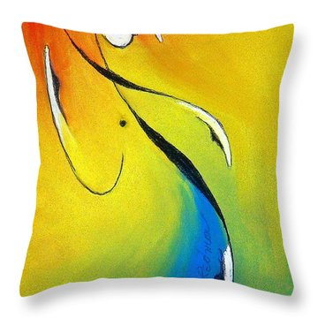 Throw Pillow featuring the mixed media Elation by Dan Redmon