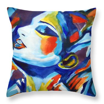 Throw Pillow featuring the painting Elation by Helena Wierzbicki