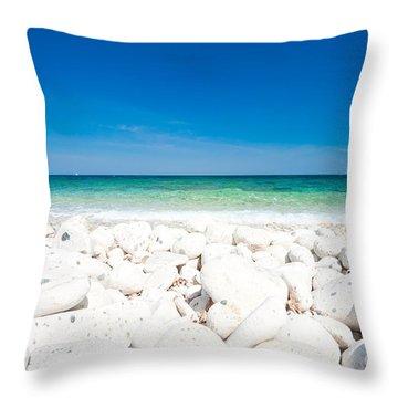 Elba - Capo Bianco  Throw Pillow by Luciano Mortula