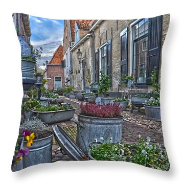Elburg Alley Throw Pillow