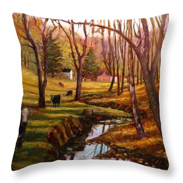 Elby's Cows Throw Pillow