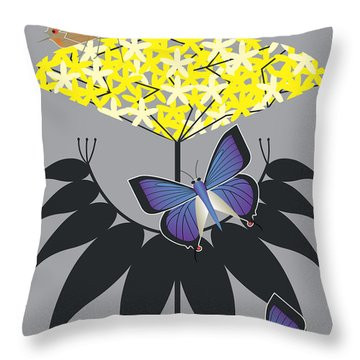 Elderberry Throw Pillow