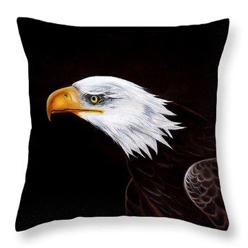 Eleanor The Eagle Throw Pillow by Adele Moscaritolo