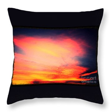 Throw Pillow featuring the photograph Electric Angel Playing A Harp In The Sky  by Kimberlee Baxter