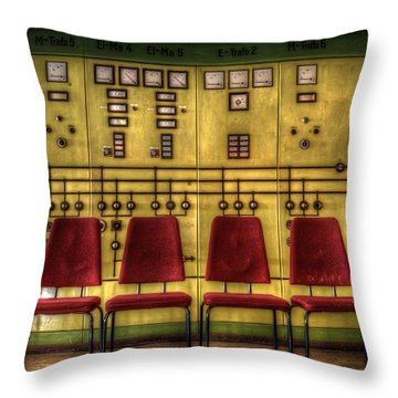 Electric Chairs Throw Pillow