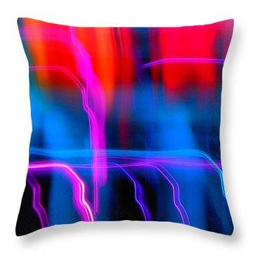 Electric Dance Throw Pillow