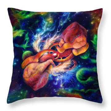 Electric Desire Throw Pillow by Kd Neeley