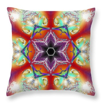 Electric Enlightenment Throw Pillow