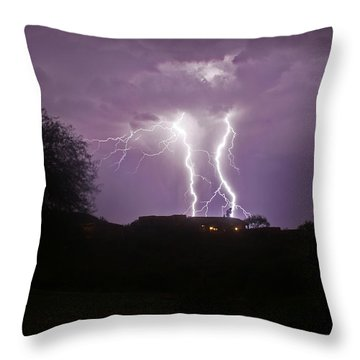 Electric Evening Throw Pillow