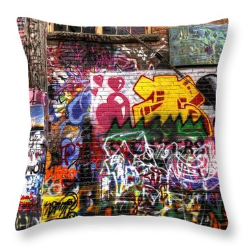 Electric Feel Throw Pillow