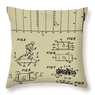 Electric Football Patent Throw Pillow by Bill Cannon