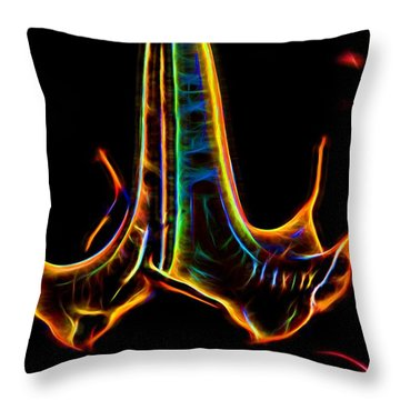 Throw Pillow featuring the digital art Electric Glow by Photographic Art by Russel Ray Photos