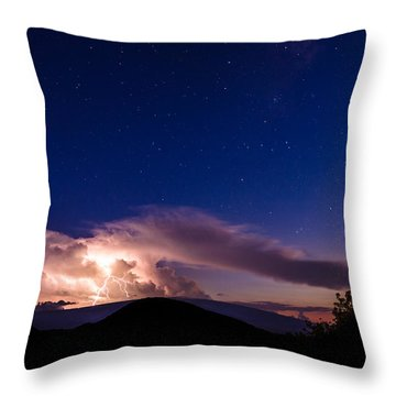 Electric Heavens 1 Throw Pillow