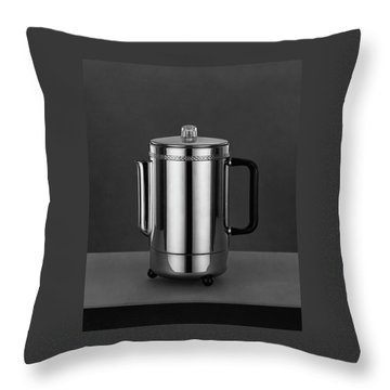 Electric Percolator Throw Pillow