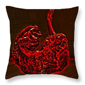 Electric Red Pepper Throw Pillow