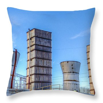 Electric Stacks Throw Pillow