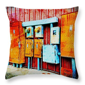 Electrical Boxes II Throw Pillow