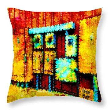 Electrical Boxes IIi Throw Pillow