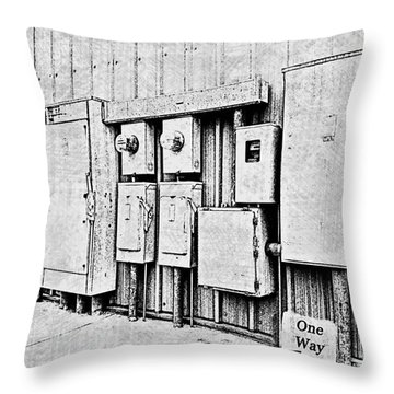 Electrical Boxes V Throw Pillow