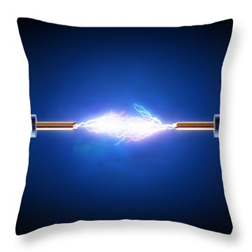Electric Current / Energy / Transfer Throw Pillow