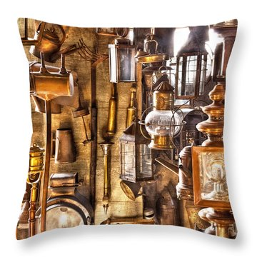 Electrician - Let There Be Light Throw Pillow by Mike Savad