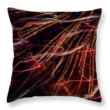 Electricity Throw Pillow by Sara Frank