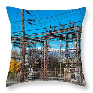 Electricity Station Throw Pillow