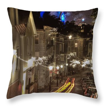 Electrified Boston Throw Pillow by Joann Vitali