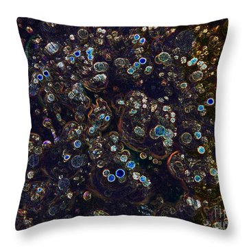Electrified Neon Bubbles Throw Pillow