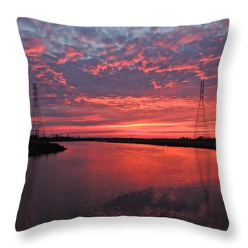Electrifying Towers Throw Pillow by Eve Spring