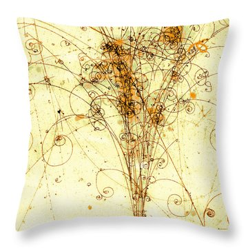Electron Positron Particle Shower Throw Pillow