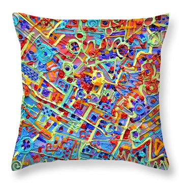 Electronics For Cats Throw Pillow