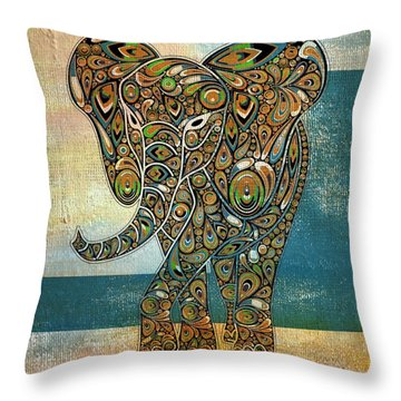 Elefantos - 01ac03at03b Throw Pillow by Variance Collections