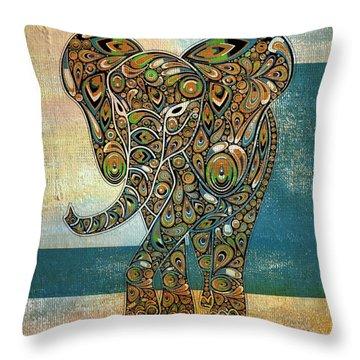 Elefantos - 01ac03at03b Throw Pillow