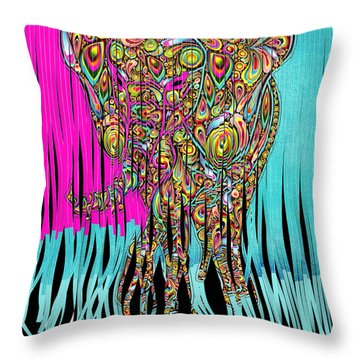 Elefantos - Cr01ac02 Throw Pillow by Variance Collections