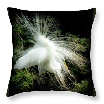Elegance Of Creation Throw Pillow by Karen Wiles