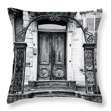 Elegance Past Throw Pillow