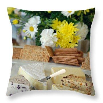 Elegant Cheese Buffet Throw Pillow