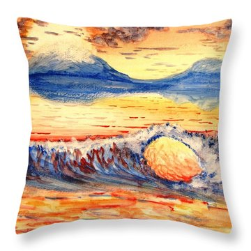 Elegant Eclipse II Throw Pillow by Kevin F Heuman