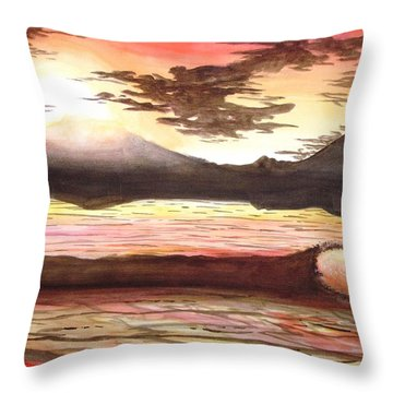 Elegant Eclipse Throw Pillow by Kevin F Heuman