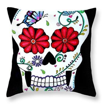 Elegant Muerte Throw Pillow