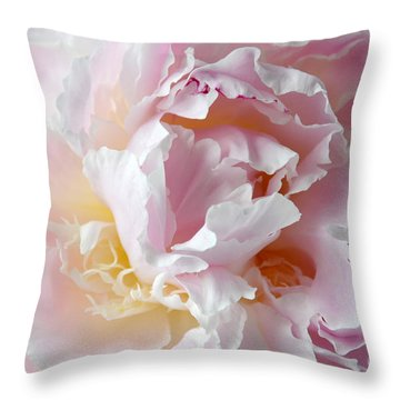 Elegant Pink Peony Throw Pillow