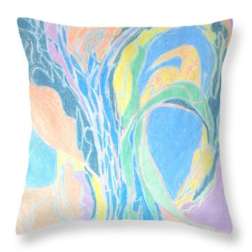 Elegy To A Tree Throw Pillow by Esther Newman-Cohen