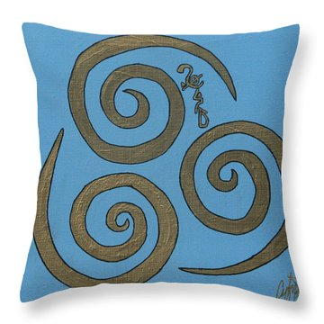 Element Of Air In Cy Lantyca Throw Pillow