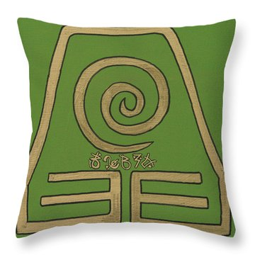 Element Of Earth In Cy Lantyca Throw Pillow